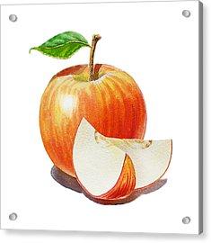 Red Apple Sliced Apple Acrylic Print