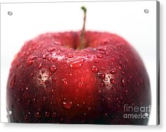 Red Apple Top Acrylic Print by John Rizzuto