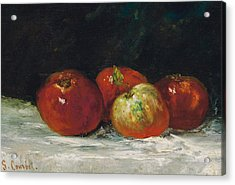 Red Apples Acrylic Print by Gustave Courbet