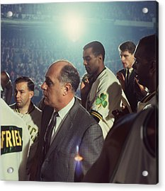 Red Auerbach Boston Celtics Legend Acrylic Print by Retro Images Archive
