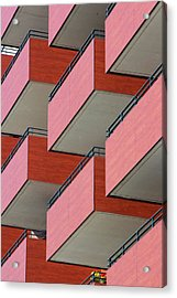 Red Balconies Acrylic Print by Jannis Werner