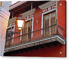 Red Balcony Acrylic Print