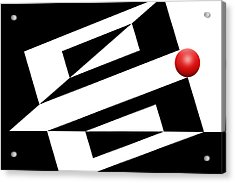 Red Ball 14 Acrylic Print by Mike McGlothlen