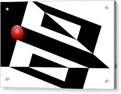 Red Ball 15 Acrylic Print by Mike McGlothlen