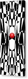 Red Ball 20 V Panoramic Acrylic Print