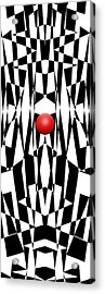 Red Ball 21 V Panoramic Acrylic Print