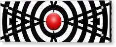 Red Ball 6 Panoramic Acrylic Print by Mike McGlothlen