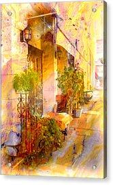 Red Bank Street Scene  Acrylic Print by Rick Todaro