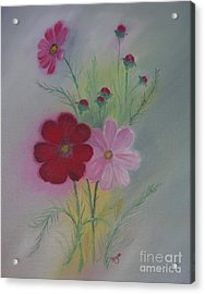 Red Acrylic Print by Barbara Hayes