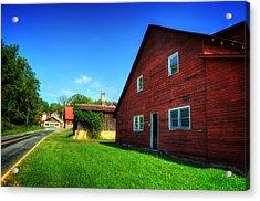 Red Barn And Blacksmith Shop Acrylic Print