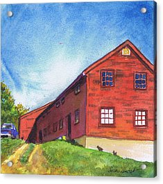 Red Barn Apple Farm New Hampshire Acrylic Print by Susan Herbst