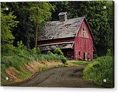 Red Barn - County Road  Acrylic Print