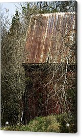 Acrylic Print featuring the photograph Red Barn - Dares Beach Road by Rebecca Sherman