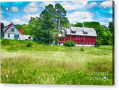 Red Barn Acrylic Print by Erika Weber