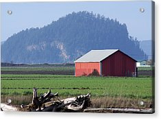 Acrylic Print featuring the photograph Red Barn by Erin Kohlenberg