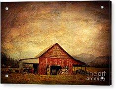 Red Barn  Acrylic Print by Joan McCool
