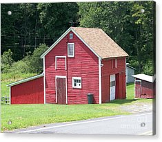 Red Barn Acrylic Print by Kevin Croitz