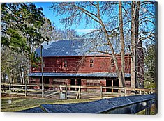 Acrylic Print featuring the photograph Red Barn by Linda Brown