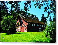 Acrylic Print featuring the photograph Red Barn  by Mindy Bench
