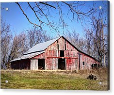 Red Barn On The Hill Acrylic Print