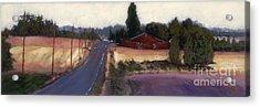 Red Barn - Rural Oregon Acrylic Print
