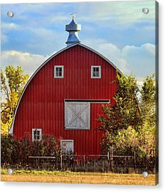 Red Barn Acrylic Print by Sylvia Thornton