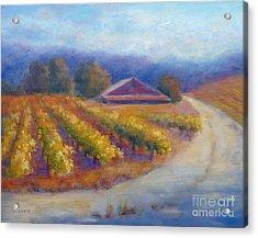 Red Barn Vineyard Acrylic Print