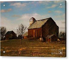 Red Barn - Waupaca County Wisconsin Acrylic Print by David Blank