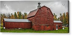Red Barn With Fall Colors Acrylic Print by Paul Freidlund
