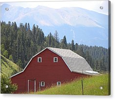 Barn - Pikes Peak Burgess Res Divide Co Acrylic Print