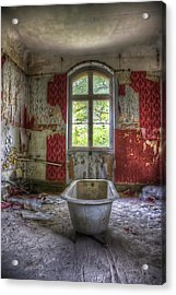 Red Bathroom Acrylic Print