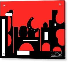 Red Bazaar Acrylic Print