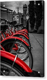 Red Bicycles Acrylic Print