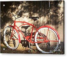 Red Bike Acrylic Print by Susan Williams