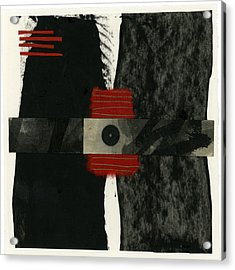 Red Black And White Collage 3 Acrylic Print
