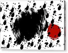 Red Blot Dark Blots Acrylic Print by Tina M Wenger