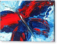 Red Blue Butterfly Acrylic Print