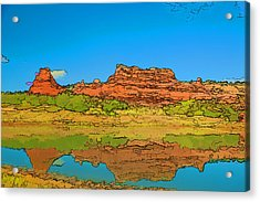 Red Bluff Reflection Acrylic Print
