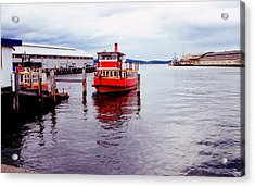 Acrylic Print featuring the photograph Red Boat by David Rich