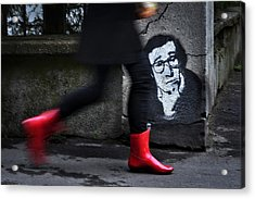 Red Boots Acrylic Print by Dragan M. Babovic