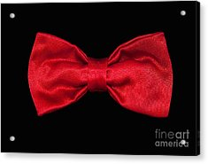 Red Bow Tie Acrylic Print