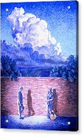 Red Brick Wall Acrylic Print by Dan Terry