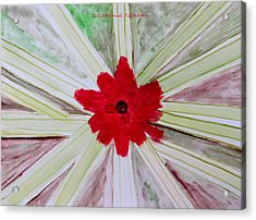 Red Brilliance Acrylic Print by Sonali Gangane
