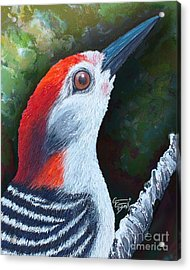 Red Brings Hope - Rectangle Acrylic Print by GG Burns
