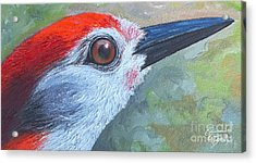 Red Brings Hope - Upclose Acrylic Print by GG Burns
