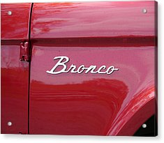Red Bronco I Acrylic Print