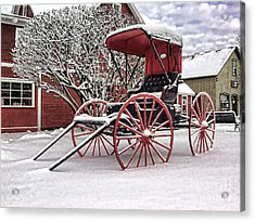 Red Buggy At Olmsted Falls - 1 Acrylic Print