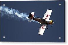 Acrylic Print featuring the photograph Red Bull - Aerobatic Flight by Ramabhadran Thirupattur