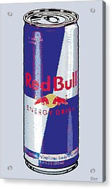 Red Bull Ode To Andy Warhol Acrylic Print by Tony Rubino