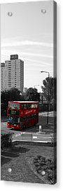 Acrylic Print featuring the photograph Red Bus by Helene U Taylor
